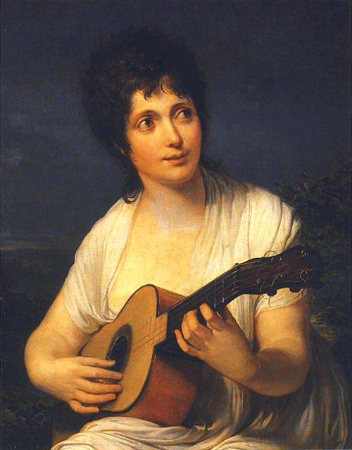 Chitarra in italia la chitarra nell 39 arte figurativa dell - Appiani dama ...